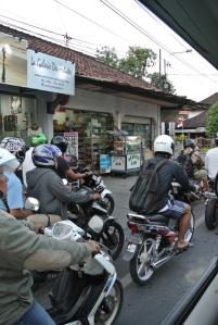 Plenty of motorbikes...