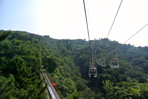 Cable car and stretch of the toboggan way