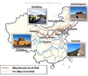 Mapa dos trechos para visitação