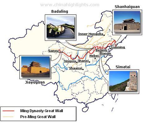 The Great Wall map