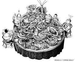 Satire published at China Daily newspaper about the chinese habits on the table (chinadaily.com.cn)