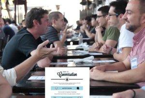 Conversa com menu sobre o que conversar!